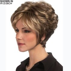 Find Symone Wig by Estetica Designs Wigs. Short pixie with loose curls, wispy long sides & tapered nape and a Lace front. Hair Styles For Women Over 50, Short Hair Cuts For Women, Short Hairstyles For Women, Cool Hairstyles, Curly Hair Styles, Natural Hair Styles, Pixie Styles, Synthetic Lace Wigs, Short Pixie Haircuts