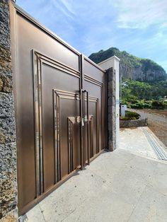 제주도 - 연수원 대문 : 네이버 블로그 Door Gate Design, Doors, Steel, Home Decor, Puertas, Interior Design, Home Interior Design, Home Decoration, Doorway