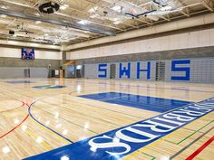 Shorewood High School: The school's gymnasium also serves as an assembly space and was designed to seat the entire student body. Bassetti Architects, 2013.
