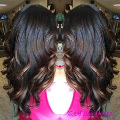 Natural fall balayage with caramel highlights AM Hair Designs @ Star Image
