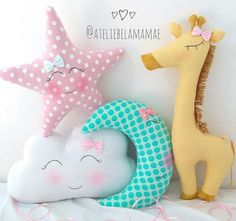 Ideas Sewing Baby Diy Fabrics For 2019 Baby Pillows, Kids Pillows, Cute Pillows, Sewing Toys, Baby Sewing, Handgemachtes Baby, Diy Baby, Baby Girl Bedding, Baby Girl Gifts