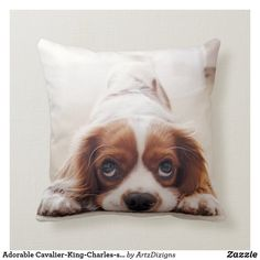 Adorable Cavalier-King-Charles-spaniel Throw Pillow King Charles Spaniel, Cavalier King Charles, Poufs, Shopping Center, Pet Gifts, Holiday Outfits, Christmas Shopping, Artwork Design, Pet Shop