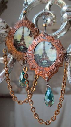 'summer in paris' vintage assemblage earrings by The French Circus, $68.00
