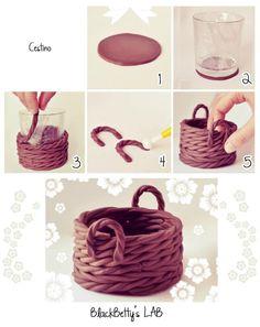 Basket clay tutorial - #clay, basket
