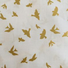 Flight by Violet Craft from the Brambleberry Ridge Collection for Michael Miller Fabrics Gold Metallic Birds by BungalowQuilting on Etsy