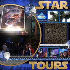 Disney Scrapbook Page - Star Tours by Melissa of Melidy Designs