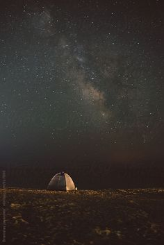 A tent on the beach under the starry sky by BrkatiKrokodil