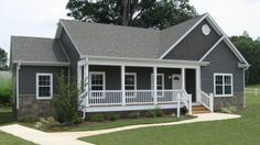 Best Manufactured Home Remodel Exterior Floor Plans Ideas Modular Homes For Sale, Modular Home Floor Plans, House Floor Plans, Modular Home Designs, Country Modular Homes, Small Modular Homes, Exterior House Colors, Exterior Paint, Grey Exterior