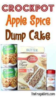 Crockpot Apple Spice Cake | Posted By: DebbieNet.com