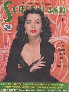 Hedy Lamarr on Screenland October 1942