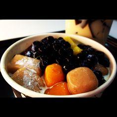 Taiwanese Dessert - Grass Jelly, Yam Q, Sweet Potato Q, tapioca pearls, Tapioca Q