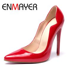 Find More Women's Pumps Information about ENMAYER Plus Size 34 46 Party  Weeding Classic Style Pointed Toe Super High Heels Pumps Shoes Women Thin Heels Woman's Shoes,High Quality Women's Pumps from E&R Chengdu Ying Meier Shoes CO., LIMITED on Aliexpress.com