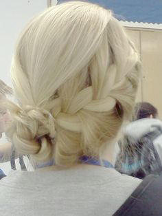Wonderful braided silver hair... if only my arthritic arms could reach behind my head. ;)