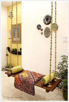 Indian Style 731835008169931575 - With creamy white walls and an open arrangement in the floor plan, the home of Aninda and Mayank in Delhi, is an enviable balance of tranqu… Source by afghanieshq Indian Home Design, Indian Interior Design, Ethnic Home Decor, Indian Home Decor, Style At Home, Indian Interiors, Indian Living Rooms, Ideas Hogar, Indian Homes