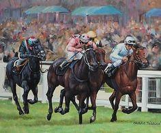 Black Caviar Royal Ascot Diamond Jubilee Racehorse Horse Racing Art Oil Painting | #769444024