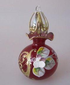 Czech Glass Miniature Perfume Bottle.