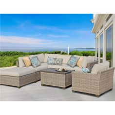 tkc monterey 7 piece outdoor wicker patio furniture set click the swimwear image to view the details