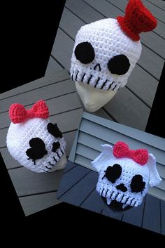 Ravelry: Skull Pack pattern by Khy's Closet