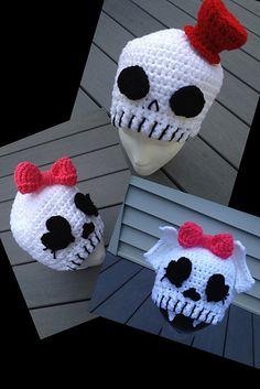 Ravelry: Skull Hats by Khy's Closet - cute idea