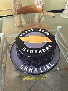 Chevrolet birthday cake. Visit us Facebook.com/marissa'scake or www.marissascake.com