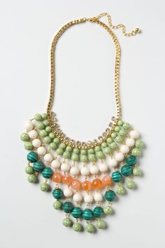 Idoya Bib Necklace via Anthopologie. Don't you love this mom? #anthropologie #necklace