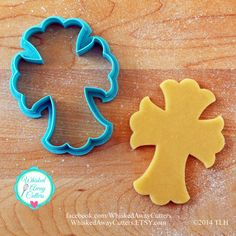Ornate Cross Cookie Cutter  Two Sizes  Blue by WhiskedAwayCutters  Cookie cutter wish list