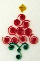 free pattern quilling quilled christmas tree