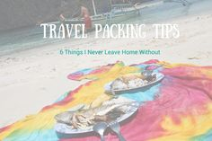 The 6 things I never leave home without. #travel #packing http://farsicknessblog.com/packing-essentials/