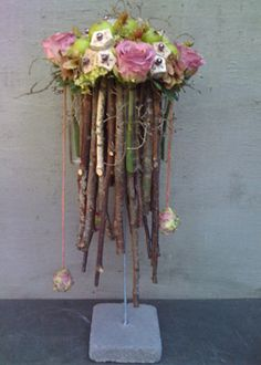 Flower arrangemtn with branches ~ Artiflora
