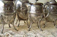 Antique Tea Service Horse Hoof Leg Detail 1898 by cynthiasattic
