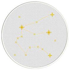 Charts Club Members Only: Aquarius Constellation Cross Stitch Pattern