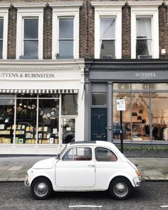 From Paris to London Fiat 500, Shop Fronts, Portobello, My Favorite Color, Photo Credit, My Dream, Around The Worlds, Black And White, Architecture