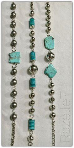 Turquoise and metal chains by RazelleT. Metal Chain, Chains, Turquoise Bracelet, Bracelets, Jewelry, Fashion, Moda, Jewlery, Bijoux