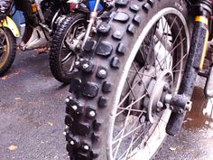 R100GSP/D ready for winter! screw in tyre studs