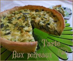 tarte aux poireaux - mon royaume weight-watchers Menu, Nutrition, Healthy Recipes, Cooking, Breakfast, Kitchen, Food, Pies, Cooker Recipes
