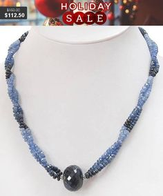 3mm-4mm Double Strand Faceted Blue Sapphire #jewelry #necklace @EtsyMktgTool #beadswholesale #beadedjewelery #sapphirenecklace