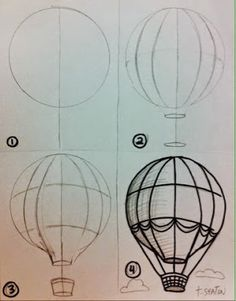 Hot Air Balloon Unit.. Could use with 4th or 5th grade to teach shadow and form