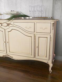 beige painted sideboard