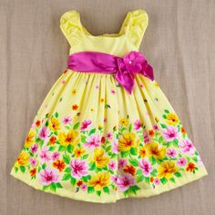 I love this yellow floral easter dress! ♥totsy.com♥