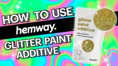 In this video we show you how to use our Hemway Glitter Paint Additive. It's super easy and simple and it only takes a few minutes to get going! Glitter Grout, Glitter Paint For Walls, Glitter Slime, Silver Paint, Glitter Nails, Body Glitter, Glitter Makeup, Glitter Eyeshadow, Glitter Paint Additive
