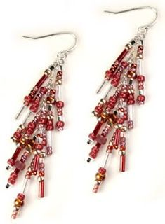 Bead Bee Beading Blog - project ideas, how to make jewelry, make your own jewelry ideas: Fabulous Fringe Earrings