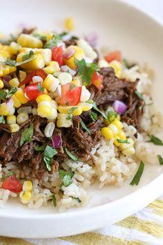 153 calorie: manzo in salsa piccante con riso al coriandolo