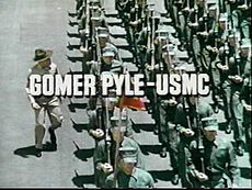 Gomer Pyle, U.S.M.C. title screen  Jim Nabors said that it was difficult for him to watch the opening sequence of the show, because many of the Marines he is seen marching with were killed in Vietnam.[1][2]