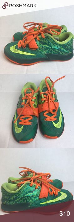 1e918a2685ef Nike kd Sneakers Youth 12.5 green orange Nike kd Sneakers Youth 12.5 green  orange low top