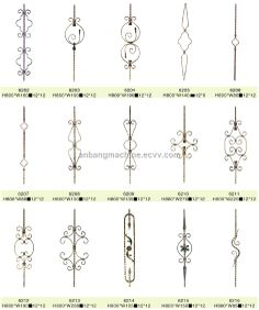 Forged Iron Baluster (6171) - China wrought iron, AnBang