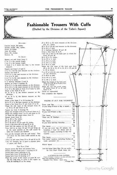 A Tailor Made It: Trouser pattern shapes c.1850 from The