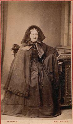 Deep Mourning, English Albumen Carte de Visite, circa 1862.