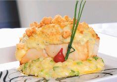 Peixe Prego em Crosta de Pêra e Gorgonzola Marcomar