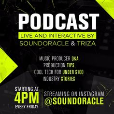 Some #dope live feed from #soundoracle and @triza #unquantizedpodcast on IG !!! Check it out! via @lev8yt : https://www.instagram.com/p/BRMNetbANYp/?taken-by=lev8yt