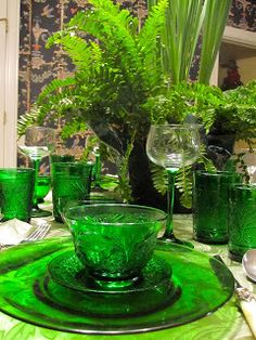 Green Tablescape – shared by Prettyology